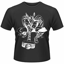 MARVEL COMICS The Mighty Thor White On Black Avengers T-SHIRT NEU