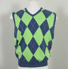 NEW! NWT! $165 Polo Ralph Lauren Colorful Argyle Mens Sweater Vest!  Slimmer Fit