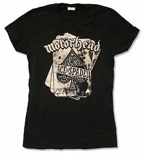 "MOTORHEAD ""ACE OF SPADES"" BLACK BABY DOLL T-SHIRT NEW OFFICIAL JUNIORS BAND"