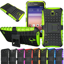 Rugged Armor Heavy Duty Hybrid Stand Case Shockproof Cover Fr Huawei Ascend Y550