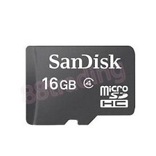 New 16GB San Disk Micro SD + Memory Card Reader FOR HTC PHONE + TABLET SERIES