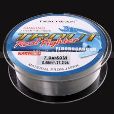 FLUOROCARBON Fishing Line New 50M 4.4LB-35.2LB Clear Color Material From Japan