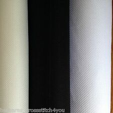 14ct DMC WHITE BLACK OR ECRU  AIDA FABRIC IN METRE'S OR 1/4 METRE'S