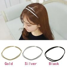 Trendy Leather Woven Hair Band Double Braided Girl Women's Headband 3 Colors
