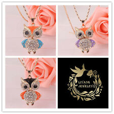 Trendy 3 colors 18K Gold plated Austrian Crystal Pendant Necklace For Women