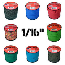"Micro Paracord 1/16"" (2mm) 85lb Tensile Strength 300 ft Spools Various Colors"