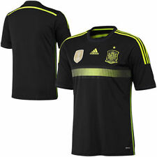 Spain adidas Away Authentic 2014 World Soccer Performance Jersey - Black