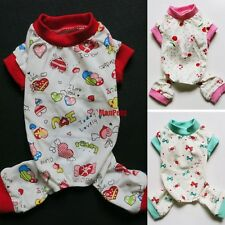 Cute Cotton Dog Pajamas Jumpsuit Pants Shirt Pet Apparel Dog Clothes XS S M L XL