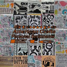 American Crafts Crate Paper Personal Sentiments Scrapbooking Stamps Vinyl Rubber