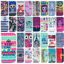 For HTC One M9 M8 HTC D500 Case Fashion Patterned Wallet Stand PU Leather Cover
