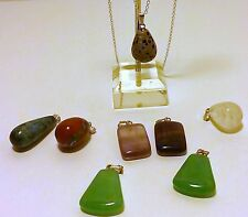 """Gemstone Pendants (Asst) on 18"""" Sterling Silver Chain - Free FAST Shipping"""