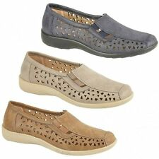 Boulevard MARSHA Womens Ladies Cut-Out Slip-On Comfy Soft Flexible Summer Shoes