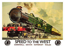 Speed To The West Railway Retro Poster Print 1939