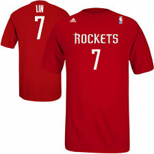 adidas Jeremy Lin Houston Rockets Game Time Player T-Shirt - Red
