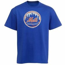 New York Mets Youth Distressed Logo T-Shirt – Royal Blue - MLB