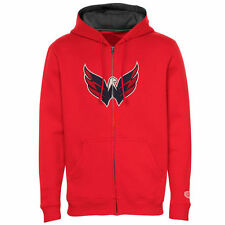 Mens Washington Capitals Old Time Hockey Red Conway Full Zip Hoodie - NHL