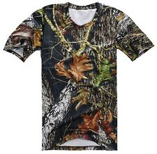 TACTICAL PAINTBALL HUNTING BIONIC DARK REAL TREE CAMO T-SHIRT IN SIZES-35815