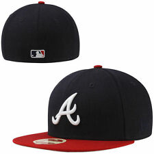 New Era Atlanta Braves Classic Wool 59FIFTY Fitted Hat - Navy Blue - MLB