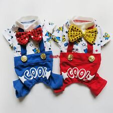 Suspenders Overalls Dog Pajamas Jumpsuits Pet Apparel Dog Clothes XS S M L XL