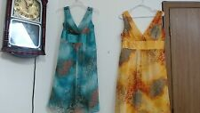 NWT SIZE  12 14 OR 16 WOMEN'S SUMMER DRESS BY KATIA YELLOW OR BLUE QT SUNDRESS