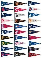 "MLB MAJOR LEAGUE BASEBALL TEAM LOGO 100% FELT PENNANT *BIG* 12""X 30"" SHIPS FLAT!"