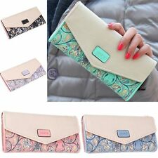 Women Envelope Purse Leather Long Wallet Card Holder Clutch Bag Handbag Gift HOT