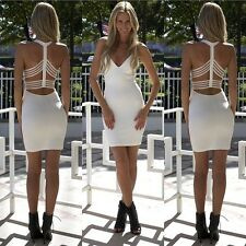 Sexy Womens Ladies Celebrity Kim Kardashian Sleeveless Bodycon Backless Dress