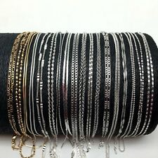 Promotion~ 5PCS/Lot 15 Styles Jewelry Solid 925 Sterling Silver Necklaces Chains