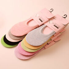 5/10 Pairs Women Girl Cotton Liner Socks Invisible Silicone Anti Slip No Show