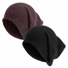 Unisex knitted cap classic fine Knitted long Beanie Winter hat long