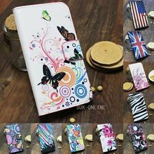 For Smart Cell Phone Flower Flip Leather PU Magnetic Wallet Stand Case Cover