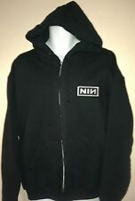 NINE INCH NAILS licensed LOGO ZIP UP HOODIE ROCK t-shirt NEW!  NIN all sizes!!