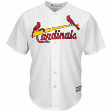 St. Louis Cardinals Majestic Youth Official Cool Base Jersey - White - MLB