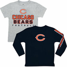 Chicago Bears Youth Fan Gear Intact T-Shirt Combo Pack - Gray/Navy Blue - NFL