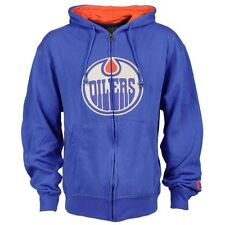 Edmonton Oilers Old Time Hockey Conway Full Zip Hoodie - Royal Blue - NHL