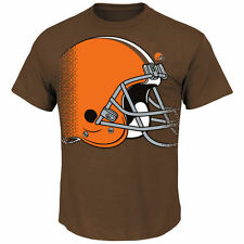 Cleveland Browns Historic Logo Majestic First Quarter T-Shirt - Brown - NFL