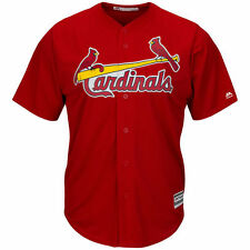 St. Louis Cardinals Majestic Youth Official Cool Base Jersey - Scarlet - MLB