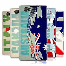 HEAD CASE FLAGS AND LANDMARKS SILICONE GEL CASE FOR SONY XPERIA Z1 COMPACT D5503
