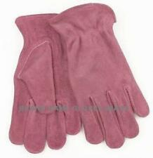 Kinco Womens ROSE PINK Leather Work Garden Gloves  S  M  L