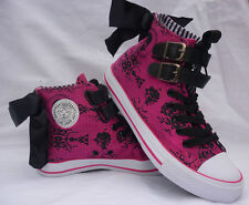 IRON FIST LADIES  LACEY DAYS HIGH TOPS BOOTS UK 3 PINK BOW SALE SALE SALE SALE