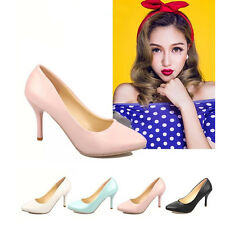 Sexy Women pointed toe  High Heel Stiletto PUMPS Cusp Slip On Summer Shoes