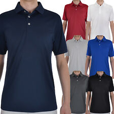 Ashworth Mens Performance EZ-SOF Short Sleeve Solid Golf Polo Shirt Top
