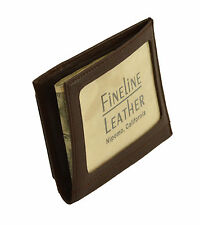 Men's Leather Wallet. Includes One Line Of Custom Personalized Imprinting #111