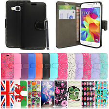 For Samsung Galaxy Various Models PU Leather Book Wallet Flip Case Cover+ Stylus