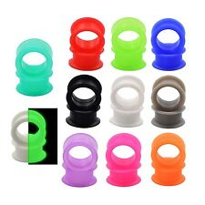 9 Pair Soft Silicone Ear Skin Tunnels Plugs Gauges Stretching Eyelets Piercing