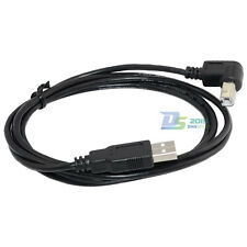 New 5Ft High Speed USB 2.0 A Male to B Male Plug Printer Scanner Cable 90 Degree