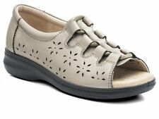 Padders COAST Womens Ladies Leather Extra EE Wide Lace Up Summer Sandals Pewter
