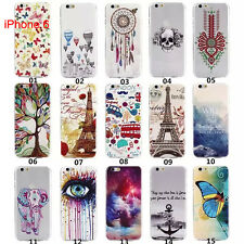 Rubber Gel Soft Slim TPU Paint Back Case Cover Skin For Samsung Apple HTC Sony