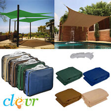 New Premium Clevr Sun Shade Canopy Sail 12' / 18' Square UV Outdoor Patio
