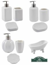 La Porcellana Bianca Bathroom Sets, Soap Dish, Dispenser & Toothbrush Holder
